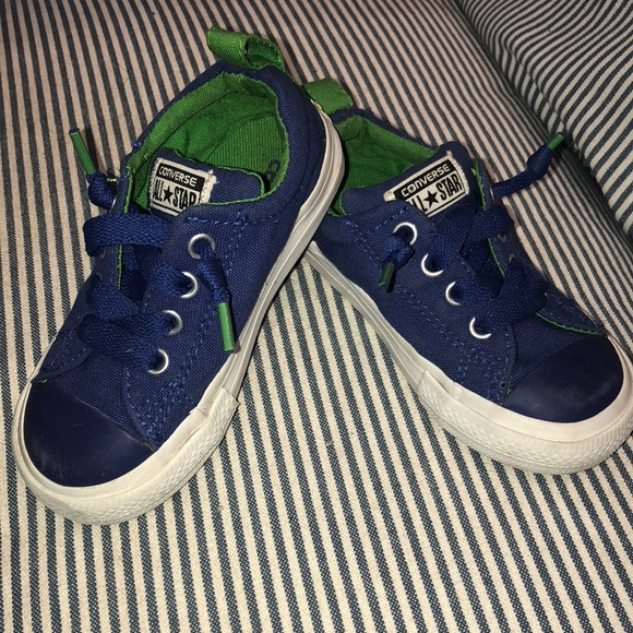 Converse Shoes 8 Boys Girls All Stars Royal Bluegreen Poshmark